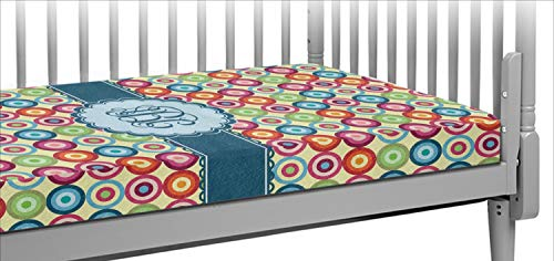 - Retro Circles Crib Fitted Sheet (Personalized)