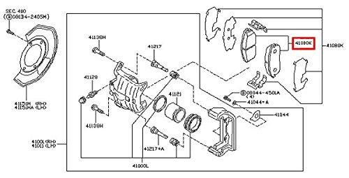 Infiniti Nissan Genuine Factory Original OEM BREMBO BRAKE PADS SET FRONT G35 2dr COUPE