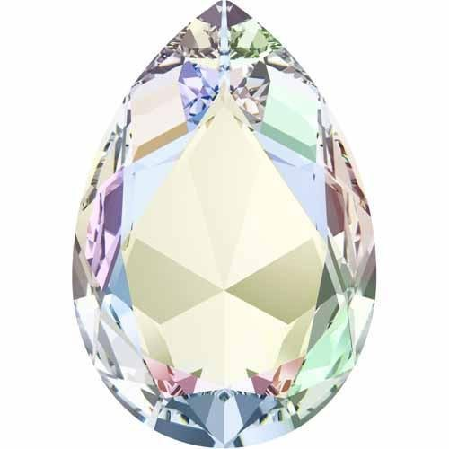 4327 Swarovski Fancy Stones Xilion Pear | Crystal Peony Pink | 30x20mm - Pack of 24 (Wholesale) | Small & Wholesale Packs | Free Delivery by Swarovski