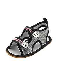 KONFA Toddler Infant Baby Boys Lightweight Roma Sandals,for 0-18 Months,Summer Kids Soft Slipper Crib Shoes