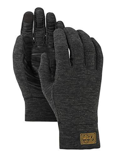 (Burton Dri Release Wool Glove Liner, True Black Heather, Small)