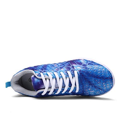 Chaussures Rose de Léger Casual Blue Bas Hommes Baskets Course Hommes Casual Couples Respirant Top Femmes Chaussures Unisexe Chaussures Casual Color 37 42 qPnA7Uw
