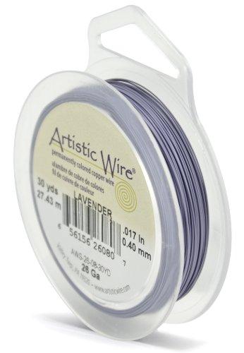 Artistic Wire, 26 Gauge, Lavender Color, 30 yd (27.4 m) Craft Wire