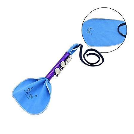 Andoer Western Concert Fl/ûte Argent-nickel Plaqu/é 16 Trous C Key Instrument /à Vent avec Cork Gants Graisse Chiffon de Nettoyage de B/âton Mini Etui Rembourr/é Tournevis
