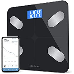 "Bluetooth Digital Body Fat Scale from GreaterGoods,""2018 Weight Gurus Update"" Secure Connected Solution for Your Data, Bluetooth Scale Includes BMI, Body Fat, Muscle Mass, Water Weight"
