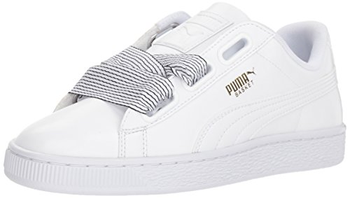 Platform Heart - PUMA Women's Basket Heart Wn Sneaker White, 8 M US