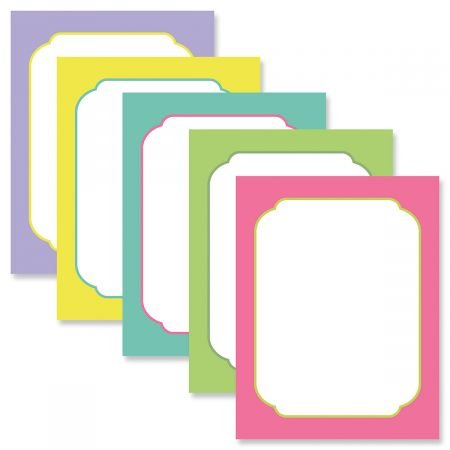 Color Borders Easter Letter Papers (5 Colors) - Set of 25 Spring Stationery Papers are 8 1/2