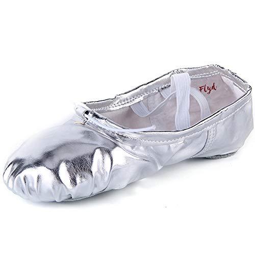 Ballettschläppchen Mädchen Ballettschuhe Damen Gymnastikschuhe Kinder Ballerinas Tanzschuhe Ballett Schläppchen Gr.22-44