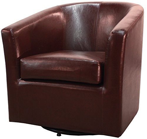New Pacific Direct 193012B-208 Hayden Swivel Bonded Leather Accent Chairs, ()