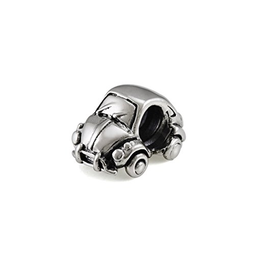 (Ohm Beads Sterling Silver Bug Classic Car Bead Charm )