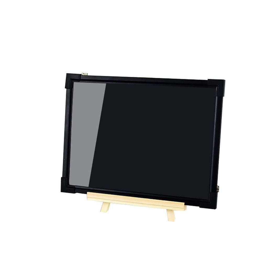 Mesurn JP 電子Ledの蛍光板、純木ブラケットが付いている30 * 40明るい小さい黒板、小さく、絶妙な、カウンタータイプの掲示板 30*40  B07MXY1QVC