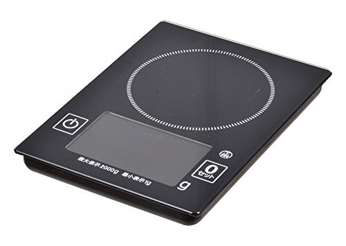Parukinzoku DEKA window glass top digital kitchen scale 2kg D-8 by Parukinzoku (PEARL METAL)