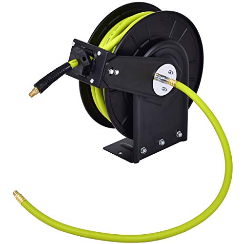 "3/8"" x 50' Retractable Air Compressor Hose Reel Business Hydraulics, Pneumatics, Pumps & Plumbing Pipe Tubing Home Tools & Workshop Equipment Parts & Accessories Hardware, Commerce, Trade, Tool from Lek Store"