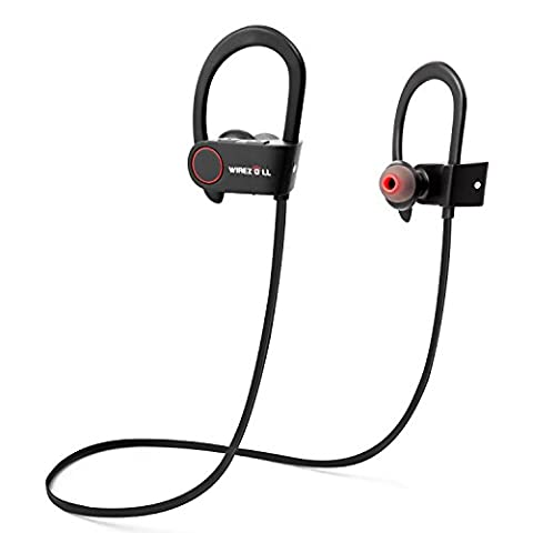 Sport Headphones, Wirezoll Wireless Bluetooth Earphones with Running Belt ( Silicone Ear Hooks, Atp-x Support, CVC 6.0 Noise Cancelling, IPx4 Sweatproof, Built-in Mic)