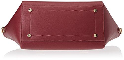 Trussardi Jeans 75b00014-1y090122, Borsa a Mano Donna, 50x39x17 cm (W x H x L) Rosso (Bordeaux)