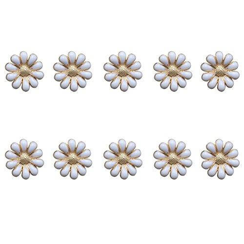 Freedi Flatbacks Buttons 3D Daisy Flower DIY Craft Hair Jewelry Supplies for Scrapbooking Phone Laptop