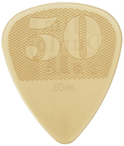 Dunlop 442R.60 50th Anniversary Nylon Pick, Gold, .60mm, 36/Bag (Guitar Pick Usa)