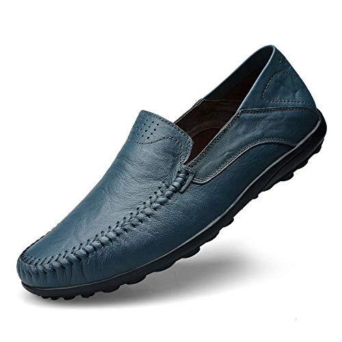 Uomo Scarpe Moda Scarpe Scarpe da Uomo Scarpe Scarpe Guida da da Casual Blue Piselli qwY1S1Ig