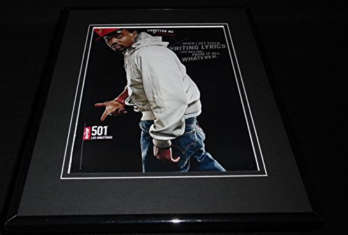 Wale 2008 Levi's 501 Jeans Framed 11x14 ORIGINAL Advertisement