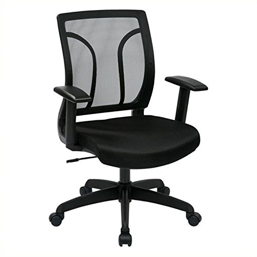 Scranton & Co Screen Back Office Chair with Mesh Seat in Black
