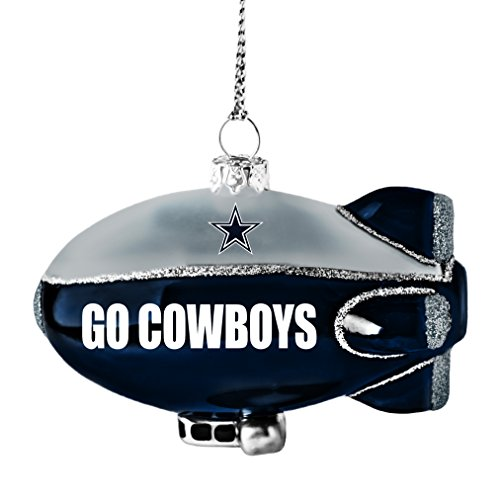 nfl dallas cowboys glitter blimp ornament