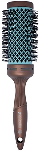 (Spornette Ion Fusion 2.5 inch Ceramic Round Brush with Nylon Bristles and Vented Thermal Barrel (#184) )