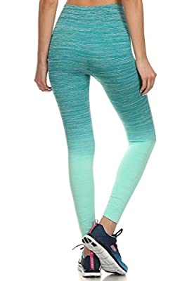 2LUV Women's Colorful Ombre Seamless Yoga Leggings