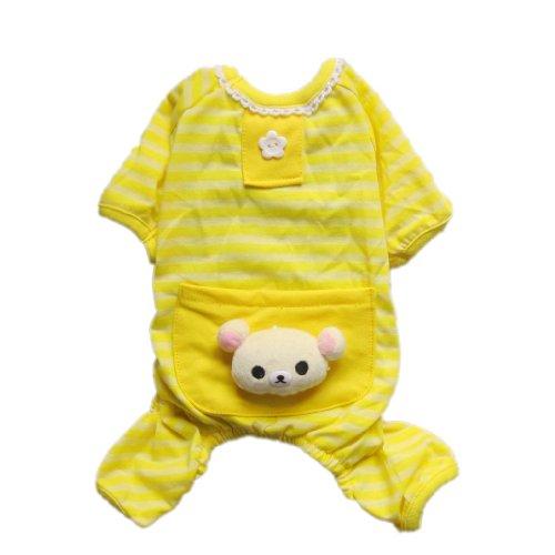 Fashion Comfy Pet Pajams Dog Shirt Stripes Dog Jumpsuit Dog Cat Clothes Free Shipping,S, My Pet Supplies