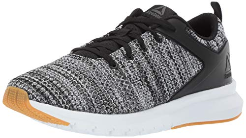 Reebok Men's Print LUX, Black/True Grey/White/Gum Rubber, 12 M US (White Lux Shoes)