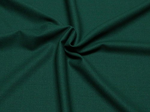 Pure Wool Crepe Suiting Dress Fabric Bottle Green - per metre