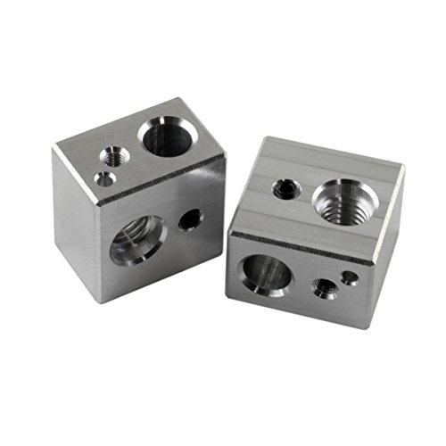 [Gulfcoast Robotics] 2 PCS MK10 Extruder Hotend Heater Block fits MP Maker Select Duplicator i3 3D Printer - Made by US company with quality and precision. by Gulfcoast Robotics