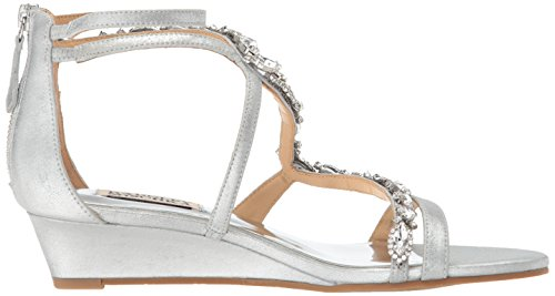 Women's Sandal Sierra Silver Mischka Badgley Wedge wqx0nz