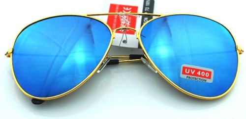 JUJU MALL-Unisex Vintage Retro Women Men Glasses Aviator Mirror Lens Sunglasses - Sons Sunglasses Native
