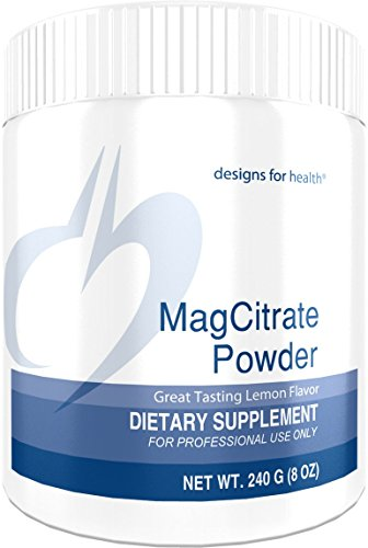 Designs for Health MagCitrate Powder - 300mg Magnesium Citrate Powder for Calming Support (240g, 60 Servings)