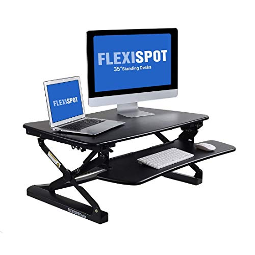 FlexiSpot M2B Standing Desk - 35' wide platform Height Adjustable Stand up Desk Computer Riser with...