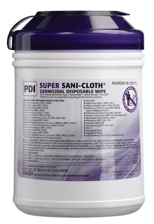 - PDI Q55172 Pdi Super Sani-Cloth Germicidal Disposable Wipe, 160 Per Case Nister