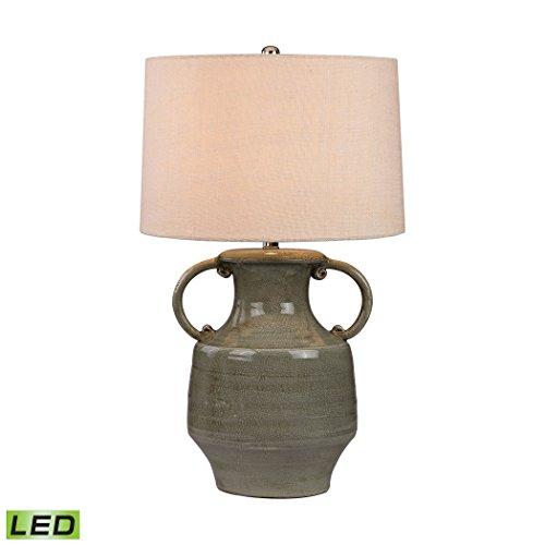 Manhattan Collection Glazed Amphora LED Lamp