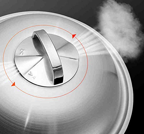 WYQSZ Wok-stainless Steel Non-stick Wok Flat-bottom No Fumes Uncoated Pot Home Cooking Multi-function Wok -fry pan 2365 (Design : A, Size : 349cm) by WYQSZ (Image #3)