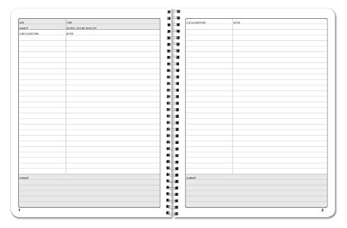 Amazon BookFactory Universal Note Taking System Cornell – Cornell Notes Paper