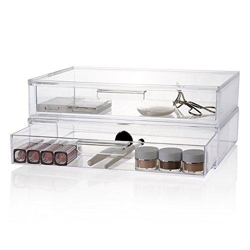 Acrylic 2 Drawers Cosmetic Organizer - 8