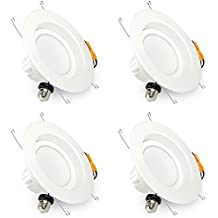 """Brizled Recessed Lighting Fixture, 5""""/6"""" Inch Dimmable Recessed LED Downlight 5000K (Daylight White), LED Ceiling Light 13W (100W Replacement), 1150Lumens, ETL Certified, 4-Pack"""