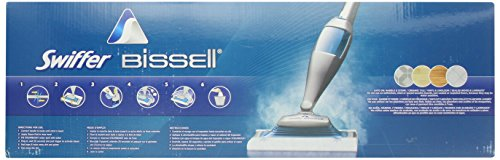 Swiffer SteamBoost Deep Cleaning Steam Mop Starter Kit, Powered by Bissel, Hardwood and Floor Cleaner, Includes: 1 Steam Mop, 2 Steam Mopping Cloth by Swiffer (Image #5)