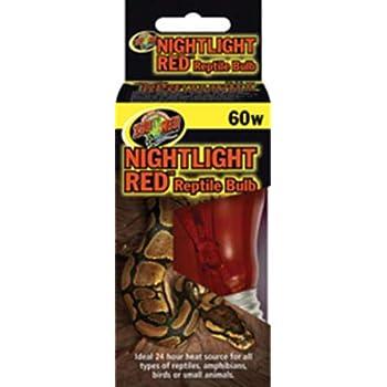 Amazon Com Zoo Med Nightlight Red Reptile Bulb 60 Watts