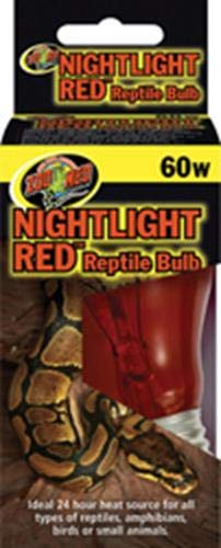 Zoo Med Nightlight Red Reptile Bulb 60 - Bulb Day Med Zoo Reptile