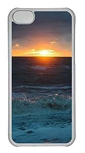 LJF phone case Customized iphone 5C PC Transparent Case - Sunrise Cover