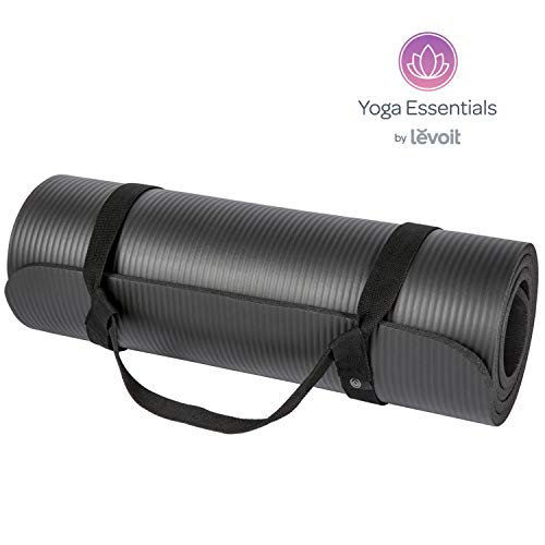 Levoit Yoga Mat, 1/2 Inch Extra Thick Exercise Mats for Workout Fitness Pilates and Floor Exercises, High-Density Anti-Tear Non-Slip NBR Foam Mat with Carrying Strap (Black) – DiZiSports Store