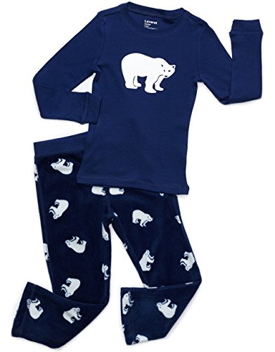 Leveret Fleece & Cotton 2 Piece Pajama Polar Bear 6 (Polar Bear Fleece Pajamas)