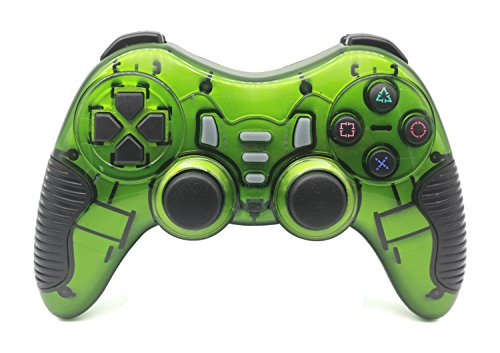 Ps3 Pad Wireless (C-Zone 6 in 1 2.4G Wireless Technology Gamepad/Game Controller for PC/PS1/PS2/PS3/PC360/Android TV/TV Box/PC/Tablet-green)