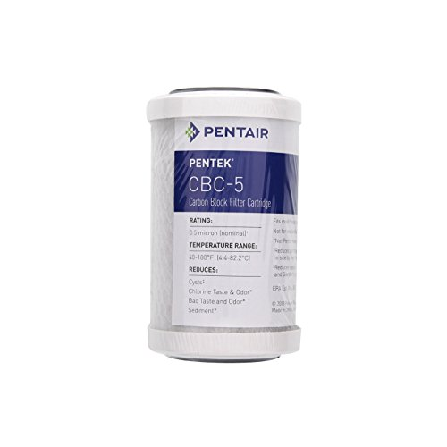 Pentek Cbc 5 Carbon Block Filter Cartridge  40 To 180 Degrees F