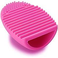 Shop-STORY – Limpiador para brochas de maquillaje para una limpieza fácil de tu pincel, color fucsia
